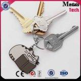 Kundenspezifisches preiswertestes förderndes Metalltypenschild-Schlüsselkette mit Marken-Firmenzeichen