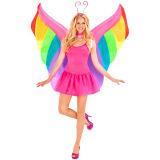 Малыши и взрослый раздувные Fairy крыла нося Costume для сбывания