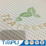 Tissu de coutil de matelas tricoté par polyester teint par filé