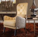 후에 최고는 놓인 가죽 여가 의자를 덮개를 씌웠다 (LCS-022)