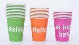 Tazas del papel de imprenta del cliente para el café