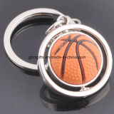 Aleación Keychain, rotación del metal del diseño del baloncesto, formada para los regalos promocionales