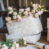 손잡이 (BC-S1219)를 가진 아름다운 Handmade 밀짚 바구니