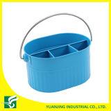Голубая корзина хранения металла цвета