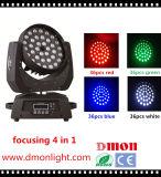 RGBWライトを集中する36*10W 4in1 LEDの移動ヘッドライト