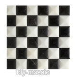 壁の装飾(FYSSD040)のための白黒モザイク・タイル