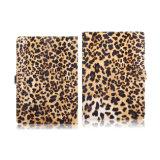 iPadの空気2ヒョウプリントパターン革箱の札入れの箱
