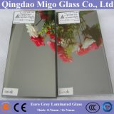 EuroFloatglas des GRAU-Reflective+Clear/färbte lamelliertes Sicherheitsglas
