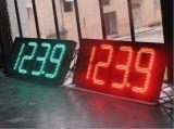 خارجيّ أحمر خضراء بيضاء لون [لد] سعر النفط عرض إشارة لأنّ محطّة بنزين لوح