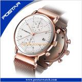Fábrica superior media del reloj del cuarzo con calidad impermeable