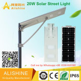 5 ans de garantie Integrated Solar Street Light avec Bridgelux LED Chip