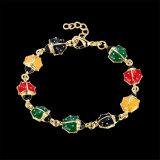 Goldfrauen-Charme-Armband-Tierform-Anhänger-Armband