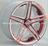 Borda colorida da roda da liga de alumínio do carro do mercado de acessórios F40173