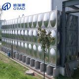 El tanque de agua de la gravedad del acero inoxidable para el agua potable