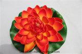 Orange Farben-sich hin- und herbewegende Lotos-Blumen-künstliche Lotos-Blumen für Dekoration