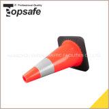 schwarzer niedriger Sicherheitskreis 18inch Belüftung-Straßen-Kegel für Verkauf (S-1237)