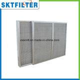 Filtro de ar de alumínio Limpeza repetida Filtro de metal