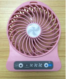 Hot Sell Gift Mini DC 5V recarregável de ventilador