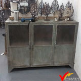 French Vintage Hand Paint Shabby Chic Iron Industrial Furniture