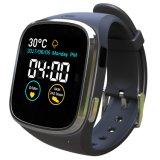 La pantalla táctil de 1.54 pulgadas IP65 impermeabiliza el reloj elegante con las vendas duales G/M y Wi-Fi, GPS y el ritmo cardíaco dinámico, ECG, supervisión de la presión arterial, el recordar sedentario. 1