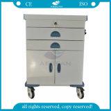 Chariots luxueux chauds d'hôpital de chariot à plage d'acier inoxydable de la vente AG-Et017