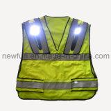 Veste reflexiva da segurança do diodo emissor de luz olá! do Vis impermeável para a segurança de estrada