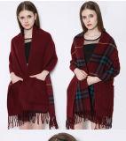 Tonreversible-Stola-Schal-Schal-Verpackung der Frauen weiche des Kaschmir-zwei mit Tasche (SP204)