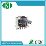 potenziometro rotativo dell'asta cilindrica del metallo di 16mm con la parentesi