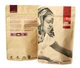 De Zak/de Tribune van de Koffie van het Document van kraftpapier op Zak met de Zak van de Koffie van de Ritssluiting met Venster