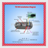 Gerenciamento de frotas Segurança do carro Tensão de trabalho ampla 6V-36VDC (Tk108-kw)