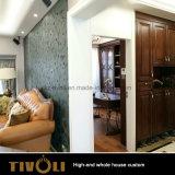 Solução feita sob encomenda Tivo-031VW da casa cheia da obra de carpintaria de madeira branca do quarto da laca