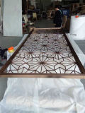 Feuillet en acier inoxydable perforé Découpage laser Décoration murale