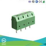El alambre protege el conector del latón del bloque de terminales Mu1.5p/H5.0 del PWB