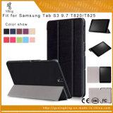 호리호리한 자석 폴딩 지능적인 손가락으로 튀김 가죽은 Samsung 은하 탭 S3 9.7 T820 T825를 위한 정제 상자를 덮는다