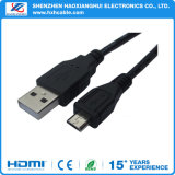 Blaues transparentes Ppc Mikro-USB-Kabel mit Ferrit-Kern