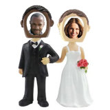 Подгонянная Wedding смолаа пар Bobble головка с рамкой фотоего