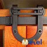 Acero al carbono de madera del granero Puertas correderas Track System Hardware