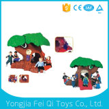 Дом Dollhouse3 игры напольной игрушки малыша пластичная