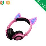 Cuffia senza fili chiara d'ardore variopinta di Bluetooth dell'orecchio di gatto del LED