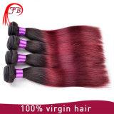 Бразильский темный Weave Ombre человеческих волос корня