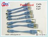 Cable plano de la cuerda de corrección del cable de la red del gato 6A Cat7 de Cat5 Cat5e CAT6 con RJ45
