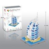 os blocos da série dos edifícios do jogo do bloco 14889407-Micro ajustaram o brinquedo educacional creativo 420PCS de DIY - Al de Burj árabe