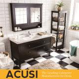 Nuevos muebles simples americanos vendedores calientes del cuarto de baño de la cabina de cuarto de baño de la vanidad del cuarto de baño de madera sólida del estilo (ACS1-W38)