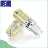 3W luz de bulbo del reemplazo del silicón G9 LED