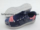 良質の2016の最も新しい子供のキャンバスの注入の靴、子供の履物の靴および最もよい価格(FFHH-092609)