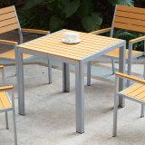 Présidence en bois en plastique de bras de Tableau de meubles extérieurs de jardin de patio (J817)