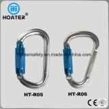 Cuerda de aluminio Carabiner de la seguridad con el bloqueo