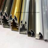 Profilo di alluminio di Electrophresis di colore dell'oro per costruzione