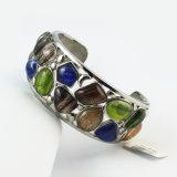 Inox magnético de acero inoxidable de señora turquesa piedra pulsera joyería