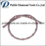 El alambre sinterizado del diamante de los granos del recubrimiento plástico vio para el corte de piedra